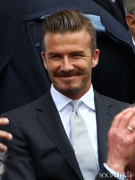 David Beckham Suit Royal Box Gentlemen's SIngles Final Match Wimbledon 2012