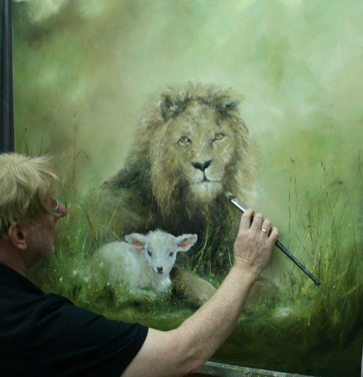 schilderij n.a.v. jesjaja is klaar en te zien in de galerie.....