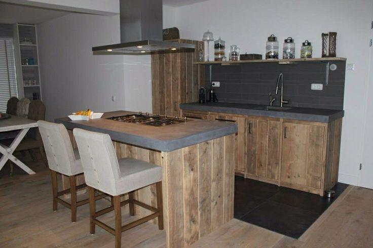 Steigerhouten keuken!!!!