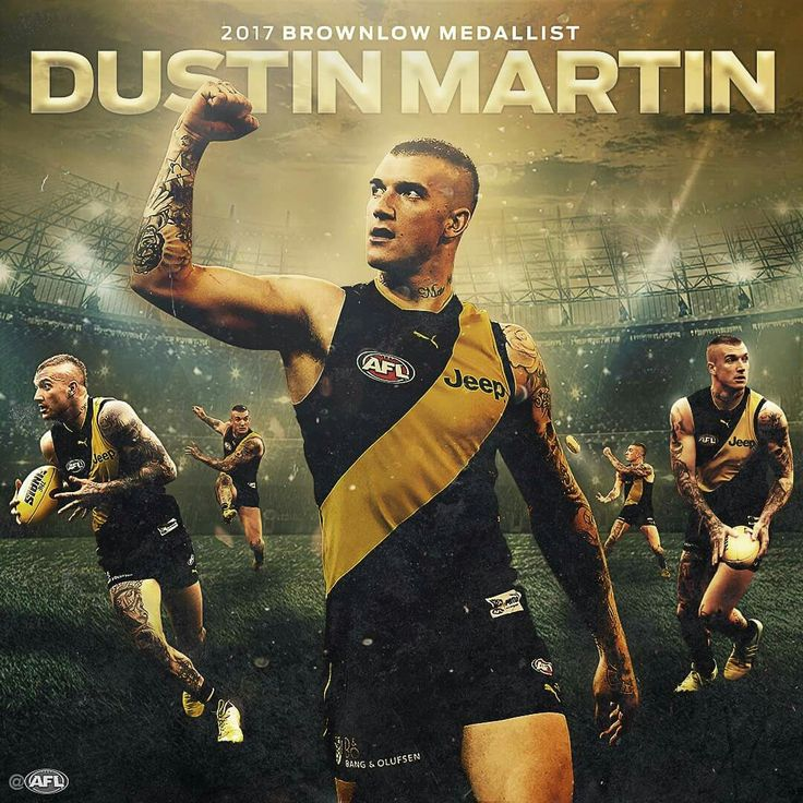 Dustin Martin, 2017 Brownlow Medallist. Congratulations