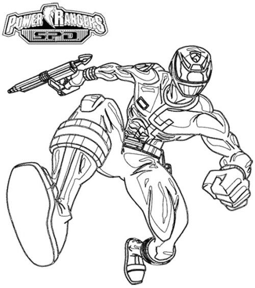 power rangers spd pursuing enemy coloring page