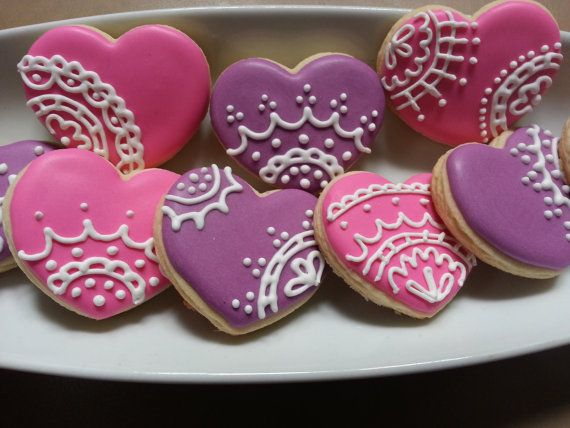 I created these just in time for the holiday! Valentines Day is just around the corner. Order these India Henna inspired heart cookies for your special someone. These also make a perfect wedding favor, Mothers Day, and anniversary cookie. Its so versatile! Colors can be customized to your color combos and party decor. These sugar cookies are made with real butter and only the highest quality flour, sugar and vanilla. They are sure to satisfy that sweet tooth! Cookies are made to order so…