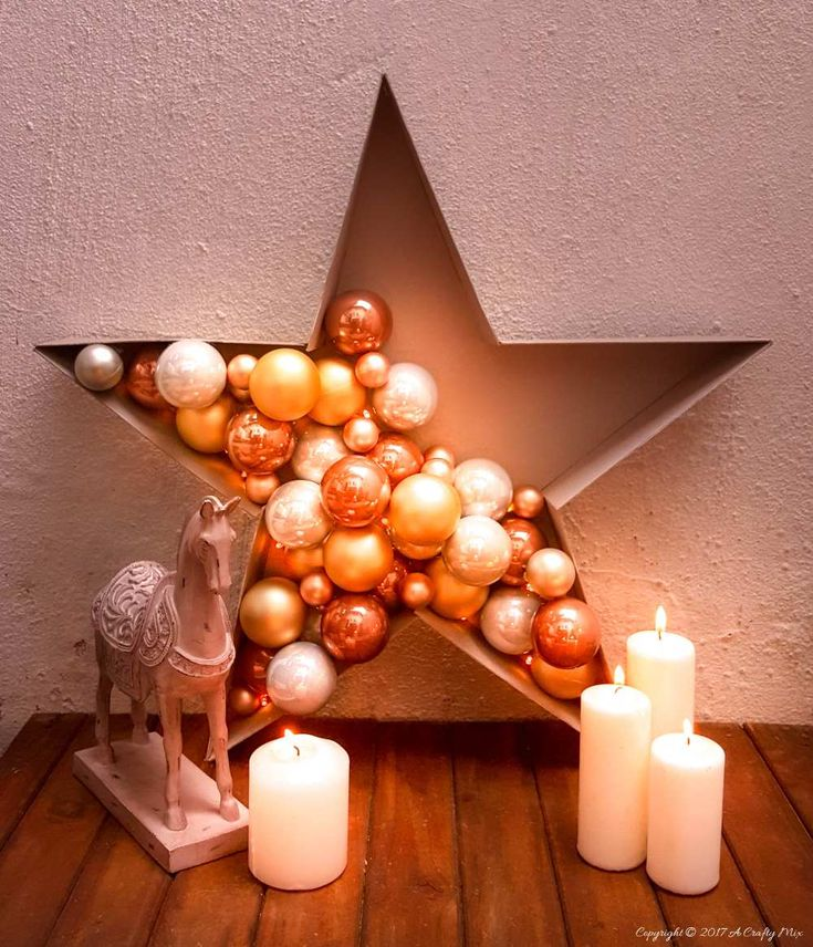 Add a touch of magic to your Christmas decor and make this stunning and simple bauble and light filled star