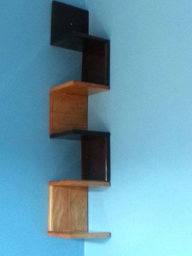 DIY corner shelf