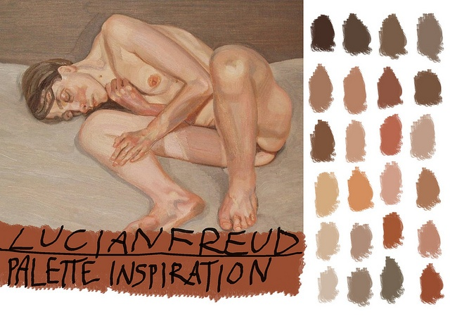Lucian Freud Palette Inspiration