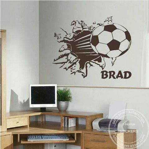 Soccer Wall Decor 62 best images about big boys room on pinterest | vinyls, vinyl