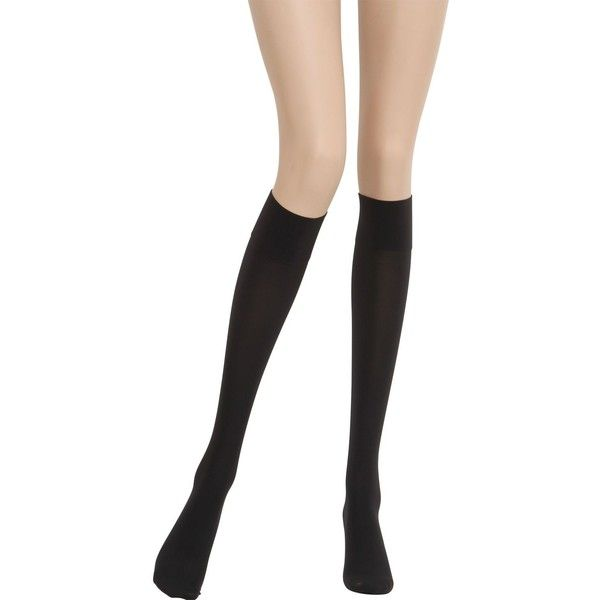 WOLFORD 50 Support Knee-High Stockings - Black ($27) ❤ liked on Polyvore featuring intimates, hosiery, tights, black, black knee high stockings, black tights, lycra tights, wolford and black hosiery