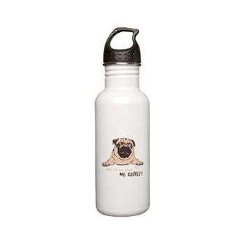 Pug Steel Sports Stainless Water Bottle 0.6l by Pugdelicious http://www.cafepress.com.au/deliciouspugshop.1720273077