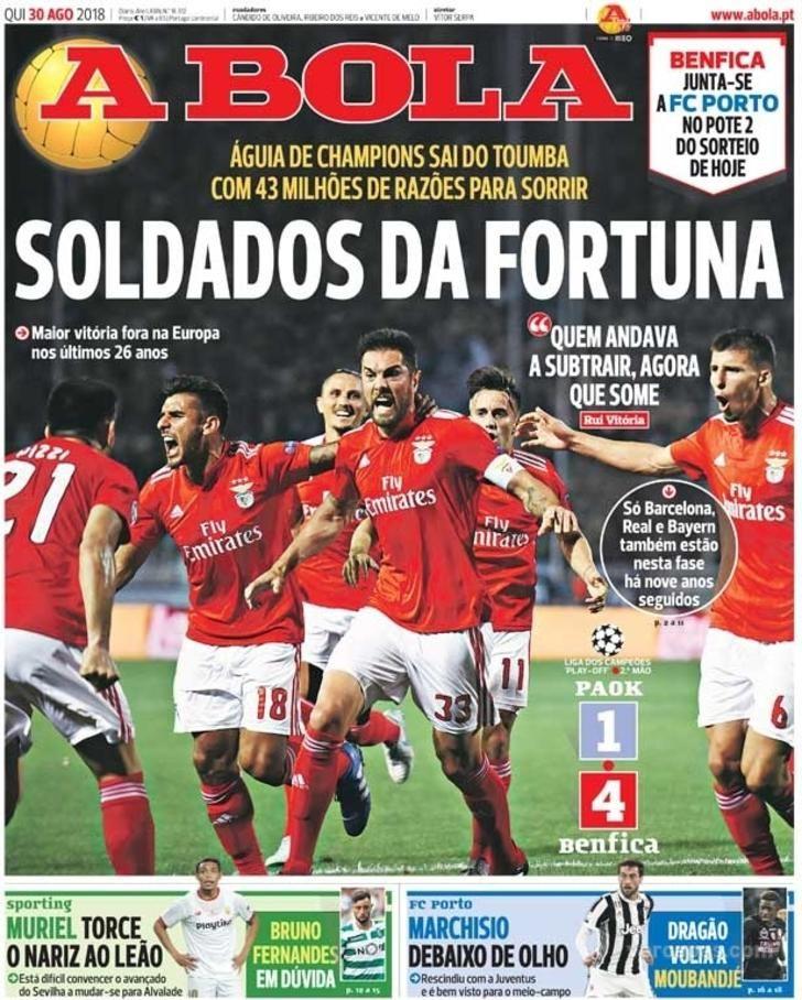 A Bola Sport Lisboa E Benfica Razoes Para Sorrir Futebol Profissional