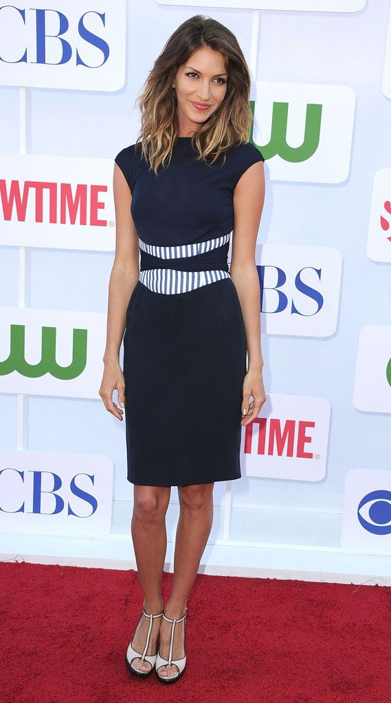 I love this dress that Dawn Olivieri is rocking.