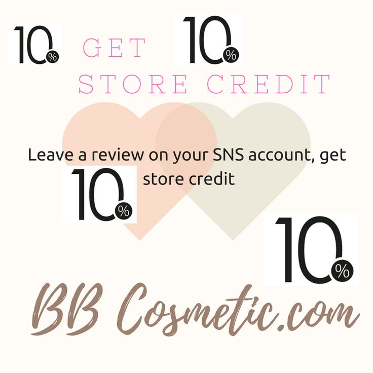 Get 10% Store Credit by Review on your SNS!