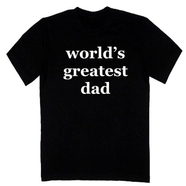 T-shirt męski - world's greatest dad z FamilyInBlack.pl