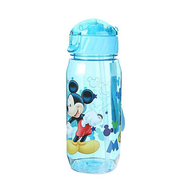 400ML Water Bottle Cartoon Straw Bottle School Water Bottles For Kids Cute Kettle Shaker Sport Drink Bottle bouteille gourde