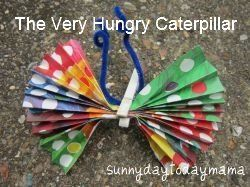 The Very Hungry Caterpillar project http://sunnydaytodaymama.blogspot.co.uk/2012/05/spring-projects-and-very-hungry.html