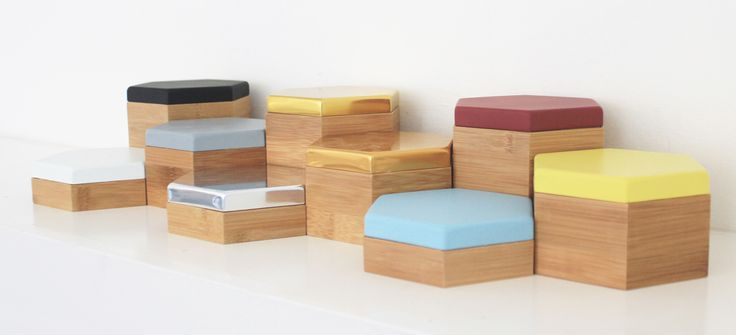 for James' beside the bed items. Hex Boxes - Jewellery & Storage Box, Desk Accessories Evie Group