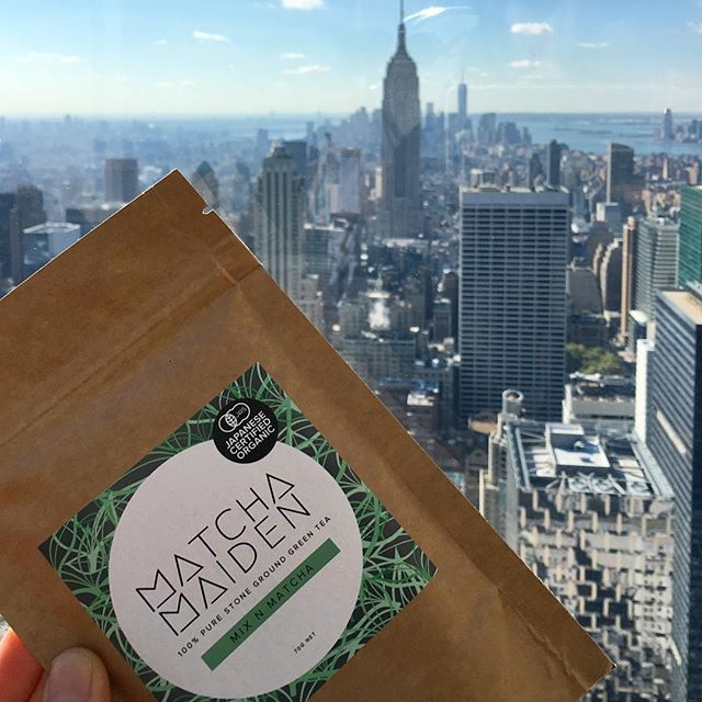 Oh heyyyyy NYC  hard at work spreading the #mixnmatcha magic in the big apple  exciting times!