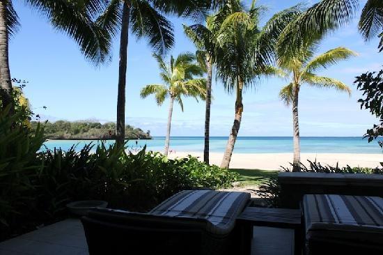 InterContinental Fiji Golf Resort & Spa: view from Beachfront Suite Patio
