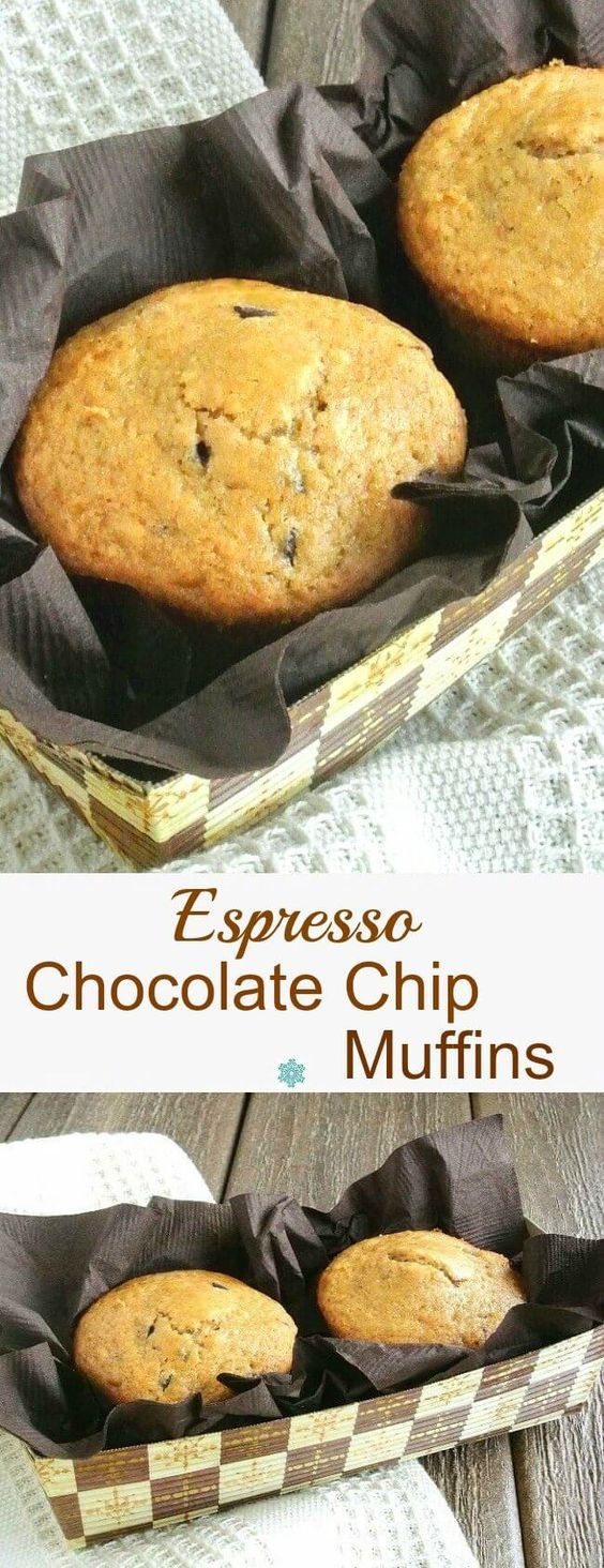 Chocolate chip muffins, Espresso and Chocolate chips on Pinterest