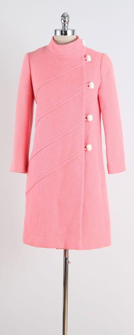 Pink Peony . vintage 1960s coat . vintage by millstreetvintage