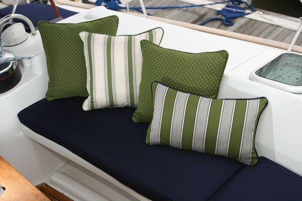 Sunbrella Boat Cushions | Sailboat | Boat upholstery ...