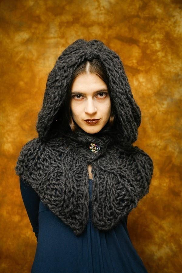 Gothic Hooded Shrug. $85.00, via Etsy.