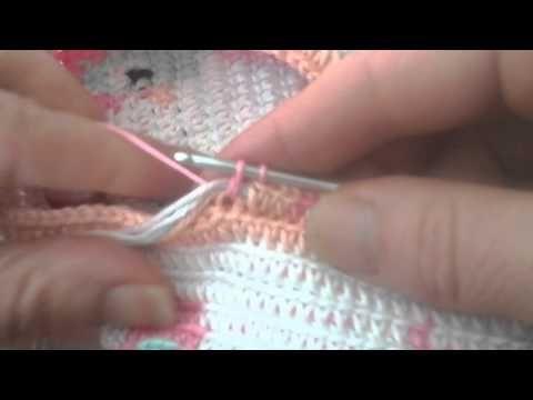 Mochilla bag haken deel 2 de kleur wissel. - YouTube