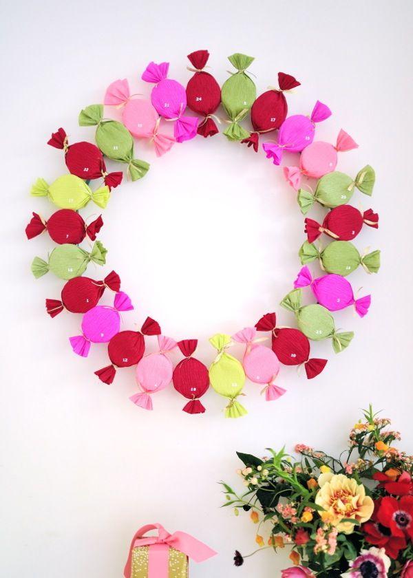 Bonbon Advent Wreath DIY | Oh Happy Day!