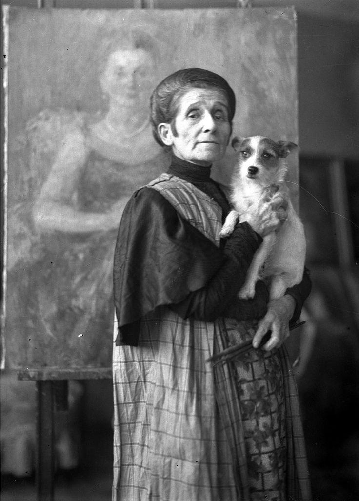 Olga Boznańska, lata 1929 – 1936, Narodowe Archiwum Cyfrowe, sygn. 1-K-2307