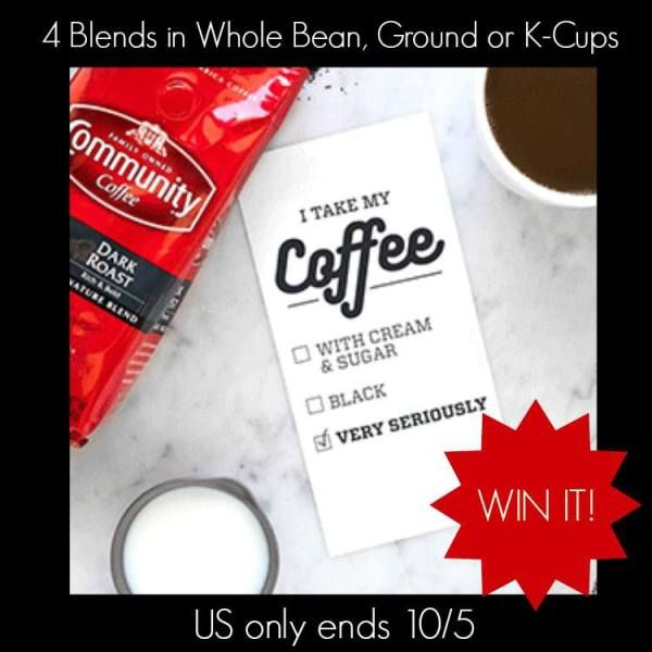 We love coffee and Community Coffee is one of our favorites. They have a great assortment of blends at affordable prices. Enter for a fab coffee prize pack.