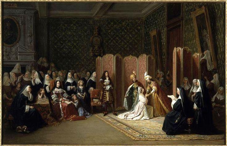 Edouard Henri Théophile Pingret : Mme de Maintenon à St-Cyr. (1835)