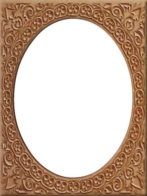 Presentation Photo Frames: Tall Fancy Oval, Style 13