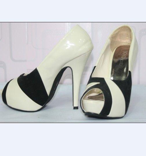 #Shoes Pumps#Shoes Pumps Elegant Fashion Color Matching Pumps White Stiletto Heels High 8 To 10 cm http://www.clothing-dropship.com/shoes-pumps-elegant-fashion-color-matching-pumps-white-stiletto-heels-high-8-to-10-cm-g2346270.html