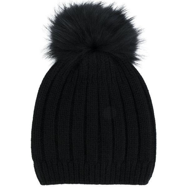 Joseph fur bobble hat (€130) ❤ liked on Polyvore featuring accessories, hats, black, bobble beanie, fur hat, bobble hat and fur bobble hat