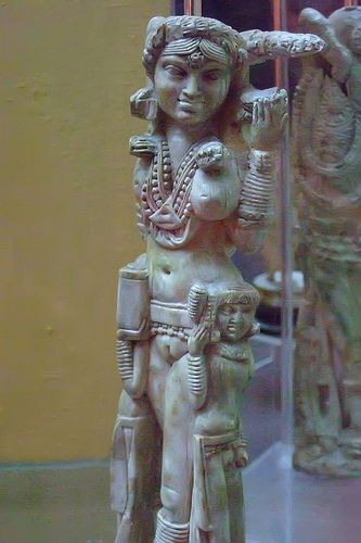 Ivory statuette of the Indian goddess Laksmi recovered in Pompeii 1st century CE