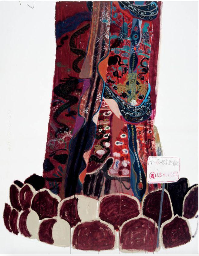 十一面观音(下)240x190cm 油画、丙烯 2010 王玉平
