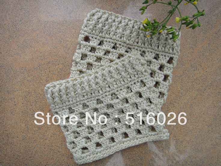 Free Crochet Boot Cuff Pattern | wholesale Crochet Leg warmers Boot Cuffs Boot toppers in white, boot ...