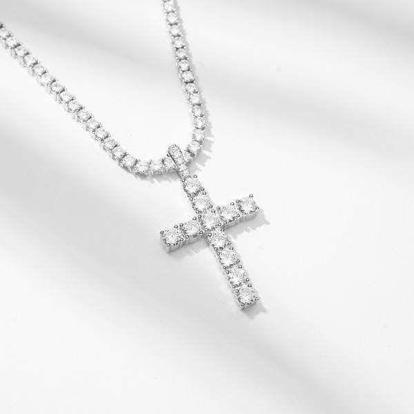 Iced Diamond Cross Diamond Ice Diamond Cross White Gold