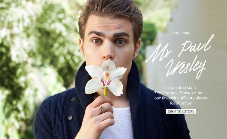Mr Paul Wesley | The Look | The Journal | MR PORTER