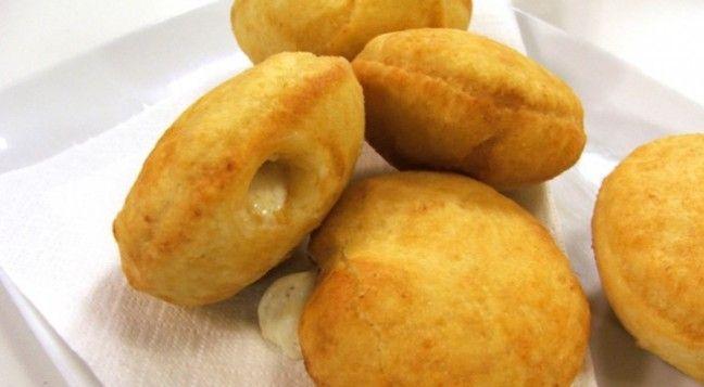 Golosi bomboloni fritti al formaggio firmati Daniele Persegani, ottimi da servire per antipasto o finger food