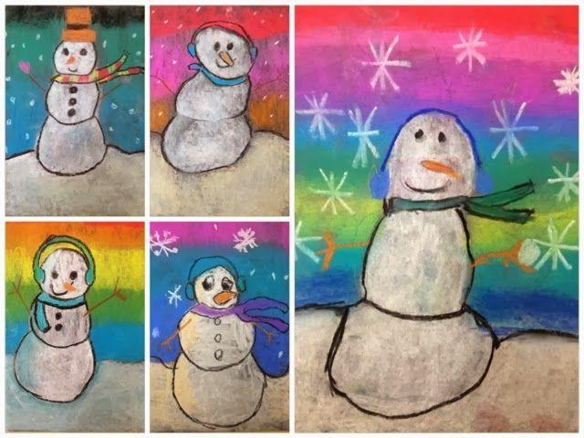 For the Love of Art: Winter Snowmen