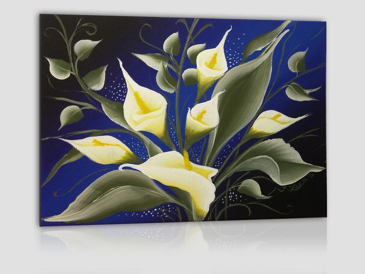 acrilico su cartoncino telato 24x18 cm - calle su sfondo blu scuro