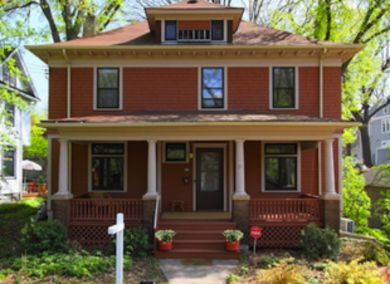 Four Square Economical to build, these two-story square homes with hipped or gable roofs saw great popularity in the U.S. in the years after 1900. The boxy, four-room-over-four-room homes frequently had a dormered attic and a wide front porch.