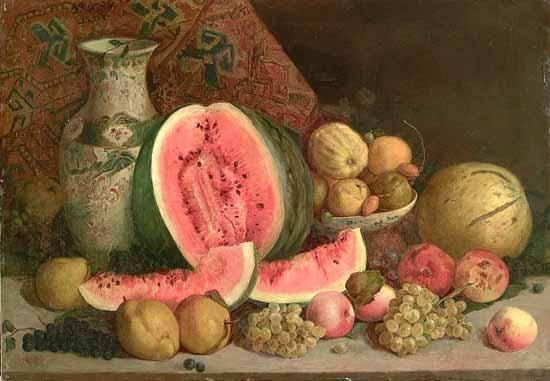 Hüseyin Zekai Paşa'nın natürmort eseri, 20.yy.  #hüseyinzekaipaşa #natürmort #artwork #fineart #resim #art