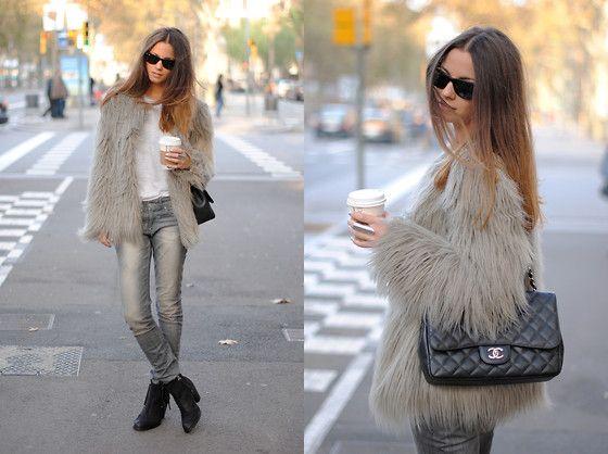 Zara Feaux Fur, Chanel Bag, Topshop Boots
