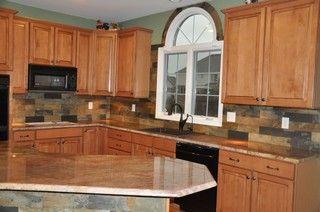 Rustic Kitchen Backsplash Ideas Granite Countertops And