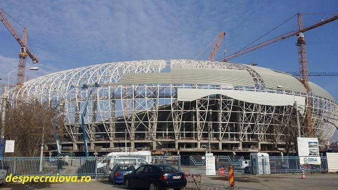 Se contureaza stadionul In Oblemenco din Craiova de la o zi la alta, lucrarile de executie fiind in plina desfasurare ,