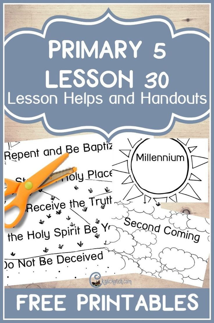 Great free LDS handouts and teaching helps for LDS Primary 5 Lesson 30: Adam-ondi-Ahman
