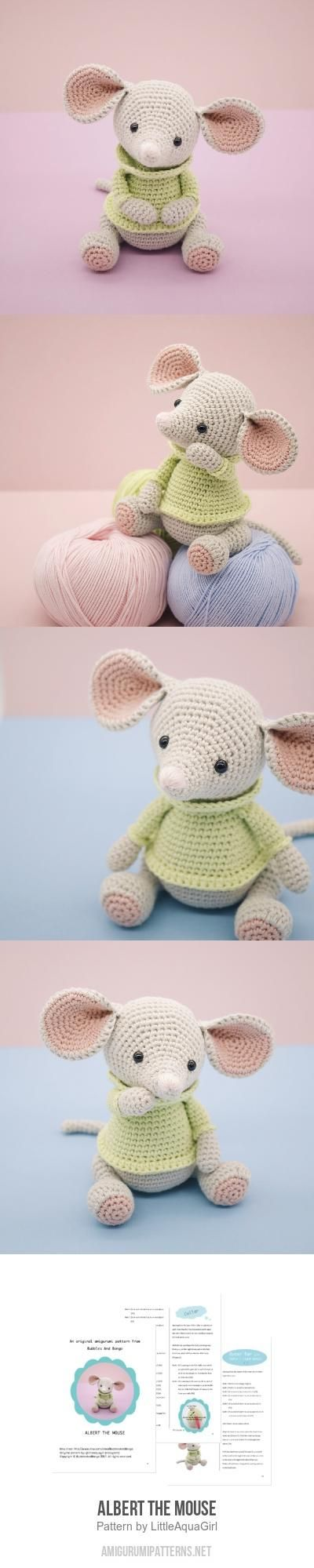 Albert the Mouse amigurumi pattern