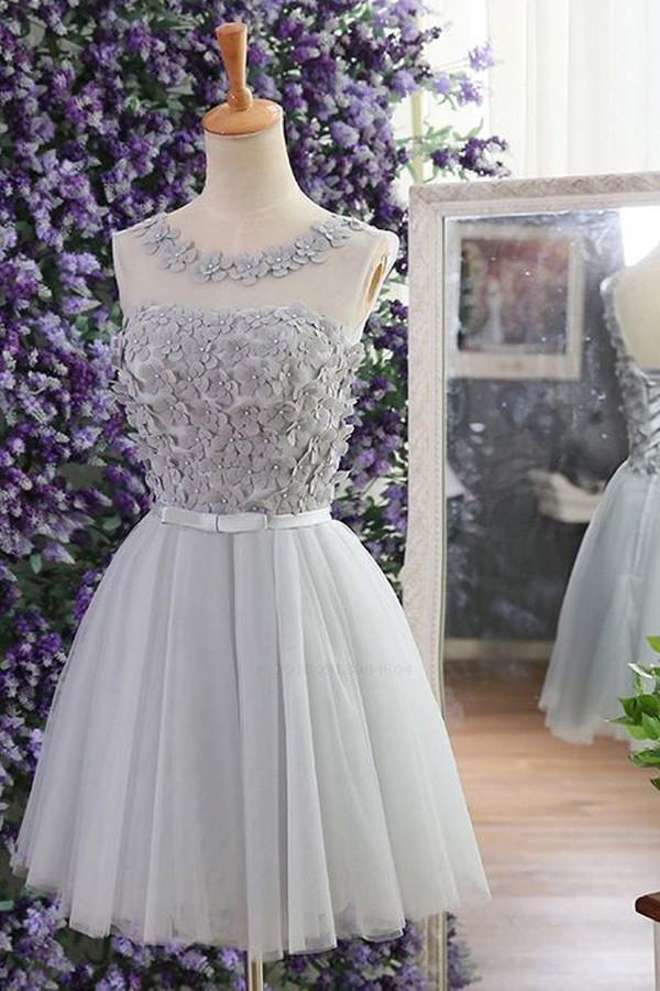 Grey Homecoming Dress  GreyHomecomingDress f1f326c4618d
