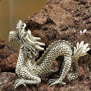 Amazon.com: StealStreet New Chinese Dragon Collectible Pewter Cone Incense Burner, Aromatherapy: Home & Kitchen